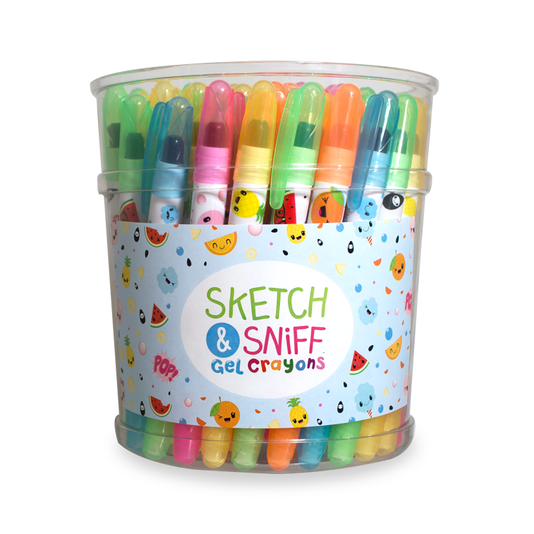 Gel Crayons bucket of 50